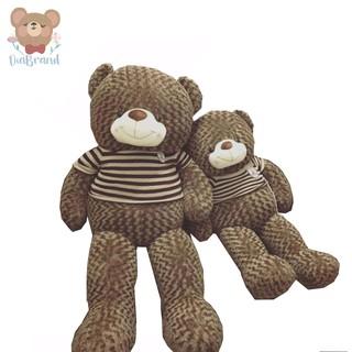 Gấu Bông Teddy Cao Cấp Áo Thun Hàng VNXK Màu Nâu Khổ 1m65 Cao 1m4 [ DIABRAND ]