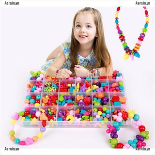 MT 450 Pieces/Set DIY Colorful Beads Bracelet Kids Personalized Jigsaw Puzzle Toys NY