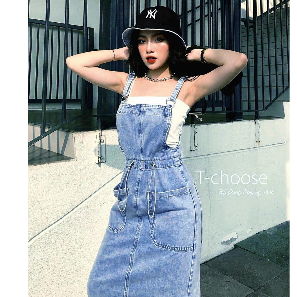 Yếm Váy Jean Siêu Xinh 💖FREESHIP💖 Giảm 20k khi nhập[THAOCHI20] Váy Yếm Nữ Thời Trang