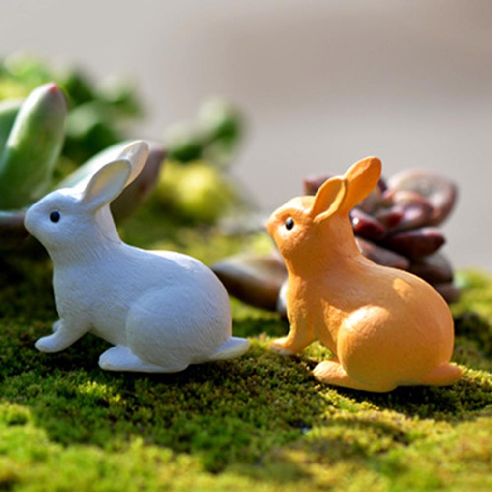 Moss PVC Home Toy Mini Rabbit Cute Gift Kids Micro Landscape Ornament