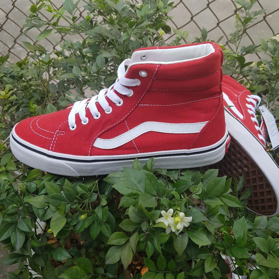 [FREE SHIP] Giày Vans Old Skool SK8 hi màu Đỏ