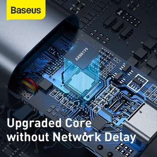 Đầu chuyển cổng USB Type A/Type C sang cổng mạng LAN Baseus Steel Cannon Series 2021