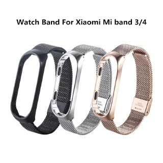 Stainless Steel Smart Watch Magnetic Milan Replacement Strap For Millet3 4 Mi band Metal Wristband Strap