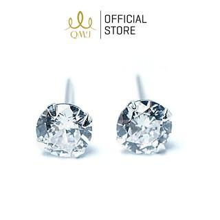 Bông tai QMJ Nụ đá bạc 925 kiểu dáng sang trọng - Q009