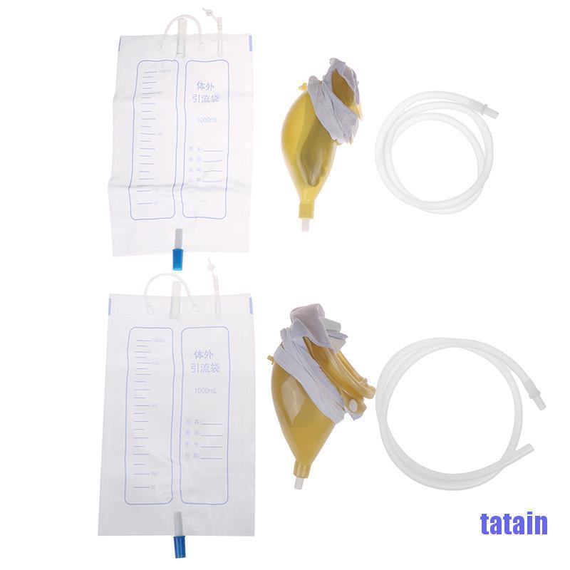 [tatain] 1000ml portable wearable urinal urine bag collector toilet elastic man women NOQV