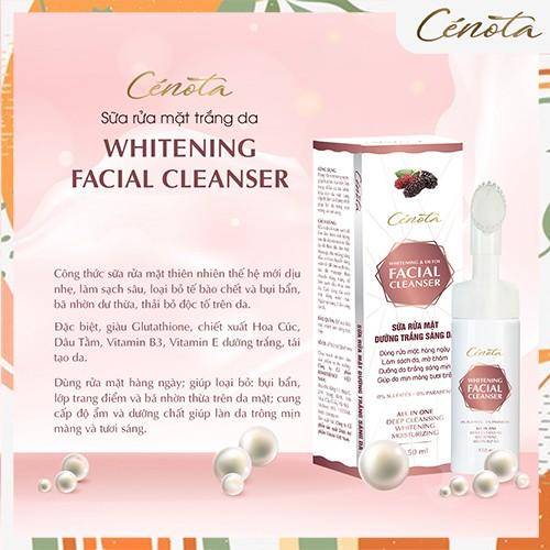Sữa rửa mặt trắng da Cénota Whitening Facial Cleanser 150ml, sữa rửa mặt trắng da dưỡng trắng - mã C03