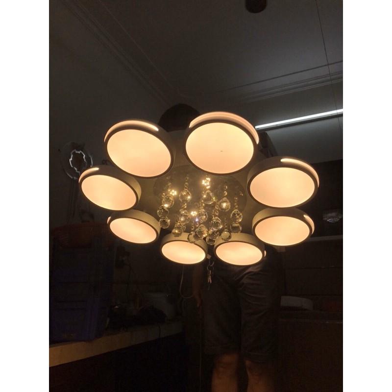 Đèn ốp trần led trang trí phòng khách A4 kiểu mẫu hiện đại,ánh sáng led 3 chế độ
