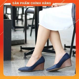 Giày công sở nữ - de p nu đe xuo ng HT.NEO da bò cao cấp siêu đẹp đế xuồng 7 phân dễ phối đồ, cực sang CS69 thumbnail