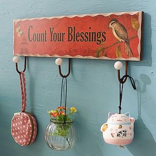 Móc treo cửa trang trí vintage bằng gỗ cao cấp OK0044
