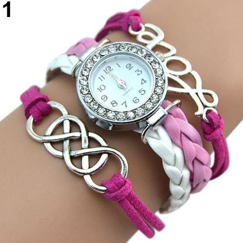 Đồng hồ dây giả da cổ điển