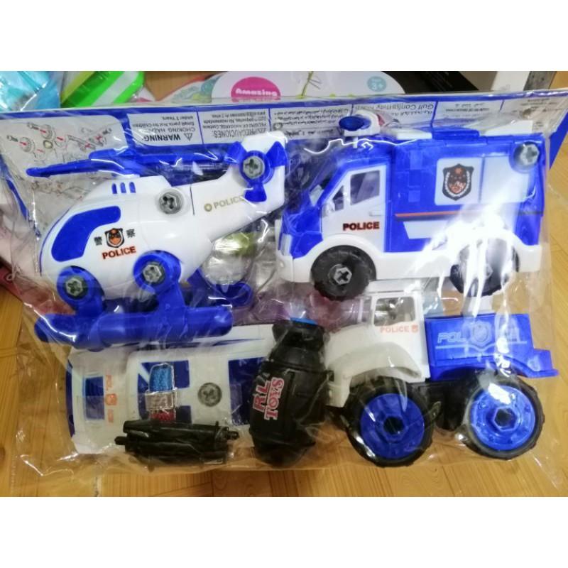 combo 4 phương tiện cảnh sát, đồ chơi trẻ em, xe đồ chơi