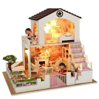Kèm mica và búp bê – Mô hình nhà gỗ búp bê dollhouse DIY – D028 Romantic Conventions