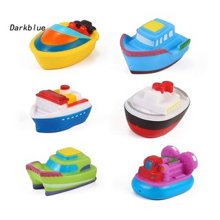 DKBL_6Pcs Baby Mini Colorful Floating Boat Model PVC Bath Tub Pool Water Play Toy