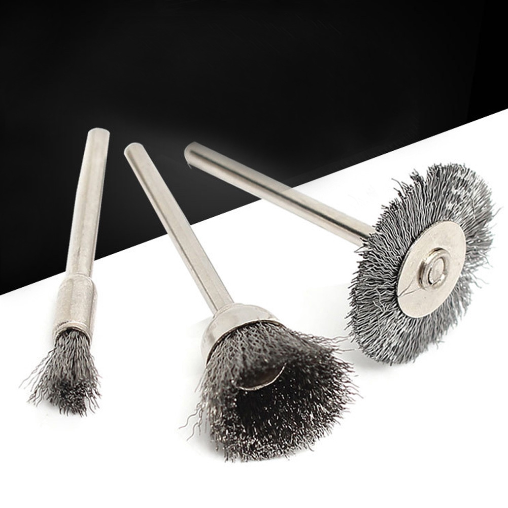 45pcs Mix Car Steel Wire Dust Rotary Cleaning Tools Polishing Set Rust Remover Accessories Wheel