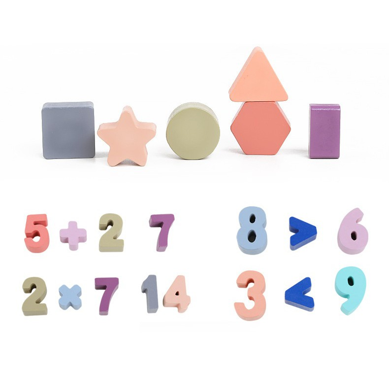 Bộ tập đếm tập đọc số tập tính toán trí tuệ bằng gỗ_Đồ chơi gỗ_TalentKids