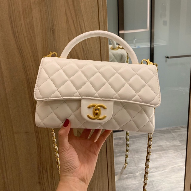 Túi Xách Chanel Màu Trắng Cực Xinh Size 24 cm, giá chỉ 829,000đ ...