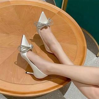 Giày cao gót nơ đá sang trọng mã ND1 thumbnail