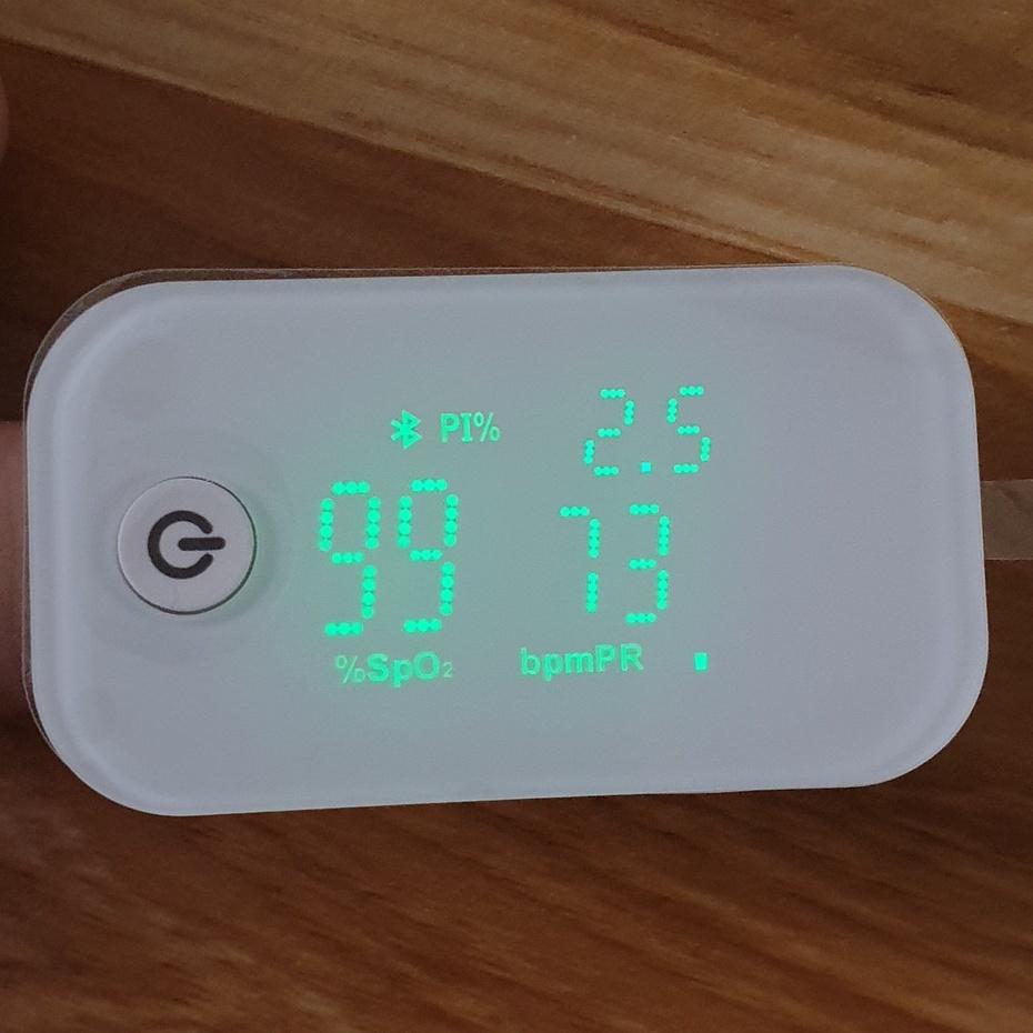 Máy đo nồng độ oxy máu và nhịp tim, chỉ số PI Jumper JPD-500G  Kết nối App - Spo2 beurer microlife