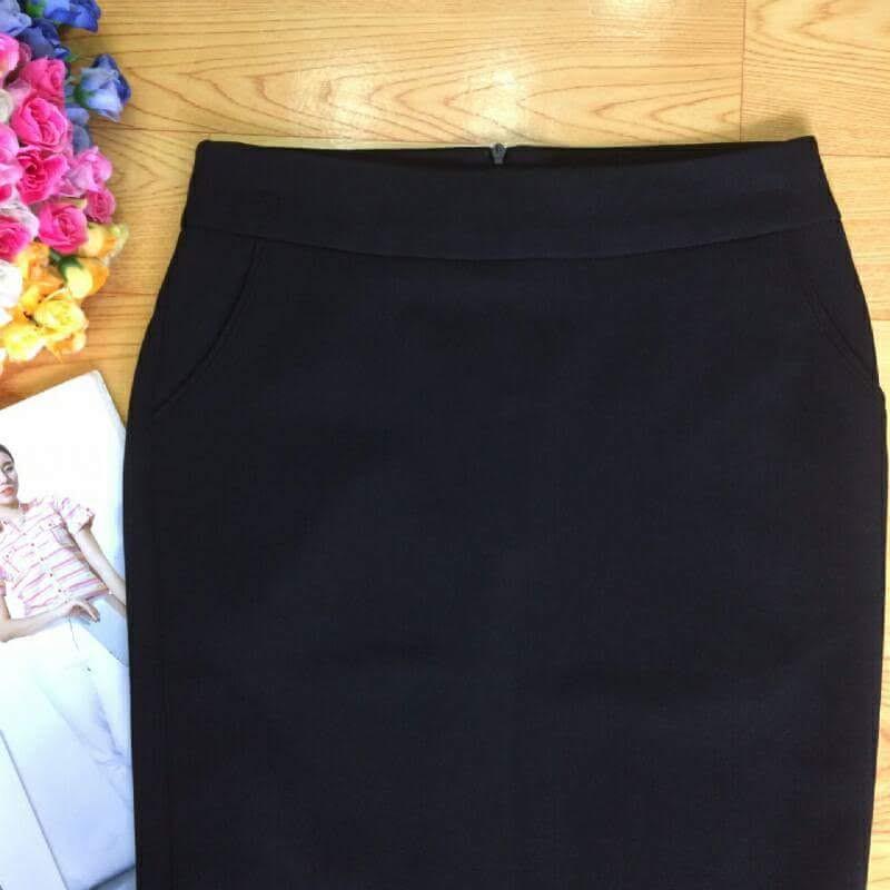 Chân váy ôm công sở dài 49cm, xẻ sau, dây kéo sau lưng,vải tuyết mưa loại 1[ĐƯỢC ĐỔI TRẢ THOẢI MÁI],mã LC200