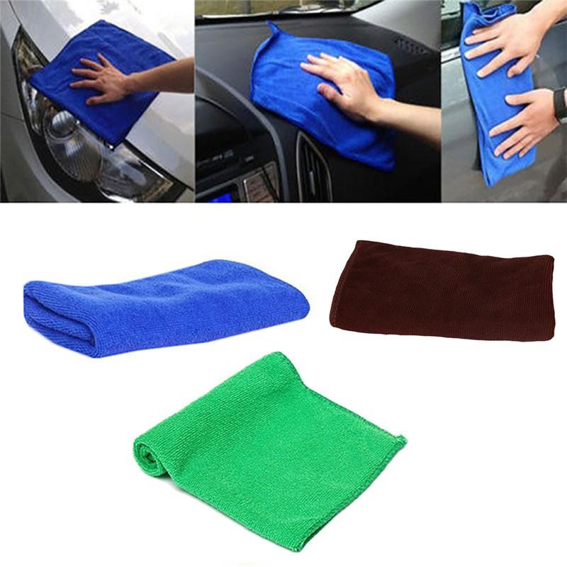 Khăn 25x25cm sợi siêu nhỏ dùng vệ sinh xe ô tô đa năng tiện dụng