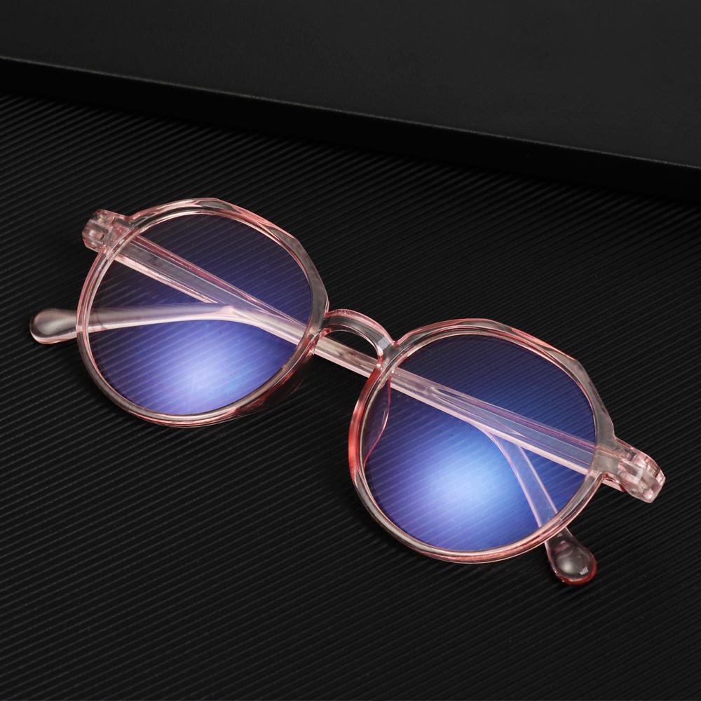 🌵CACTU🌵 Unisex Blue Light Blocking Glasses Vintage Gaming Eyeglasses Computer Goggles Vision Care Ultralight Spectacle Frames Radiation Protection Eyeglasses transparent/black/pink