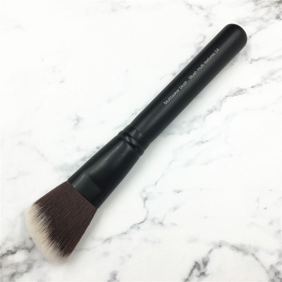High End Matte Black Handle No.54 Angled Multitasker Blush Contaour Makeup Brush