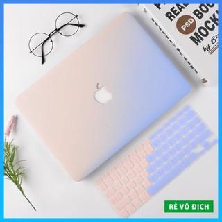 [Rẻ Vô Địch] Combo Case, ốp kèm phủ phím Macbook đủ dòng Màu Ombre – Nhựa ABS cao cấp chống va chạm (Tặng Nút Chống Bụi)