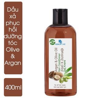 Dầu Xả Phục Hồi Và Bảo Vệ Tóc Chiết Xuất Tinh Dầu Olive Và Argan HUNCA (400ml) thumbnail