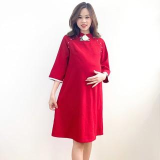 MEDYLA - Váy bầu cách tân nhung lì cho mẹ bầu diện tết - VS407 thumbnail