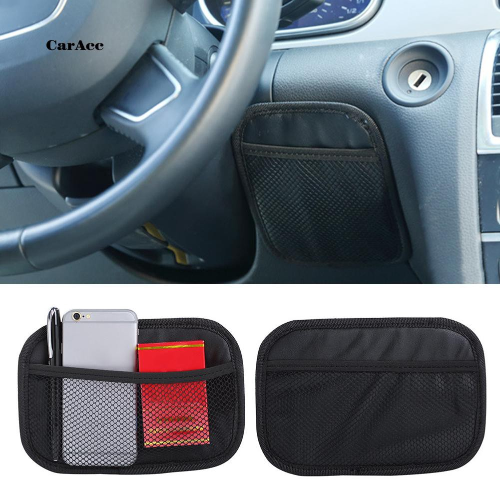 CARA_Universal Car Vehicle Stylish Mesh Net Storage Bag Phone Holder Pouch Organizer