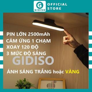 Đèn LED Cảm Ứng Chạm GIDISO Sạc tích điện 2500mah dùng cho bàn học trang điểm tủ sách phòng ngủ cầu thang