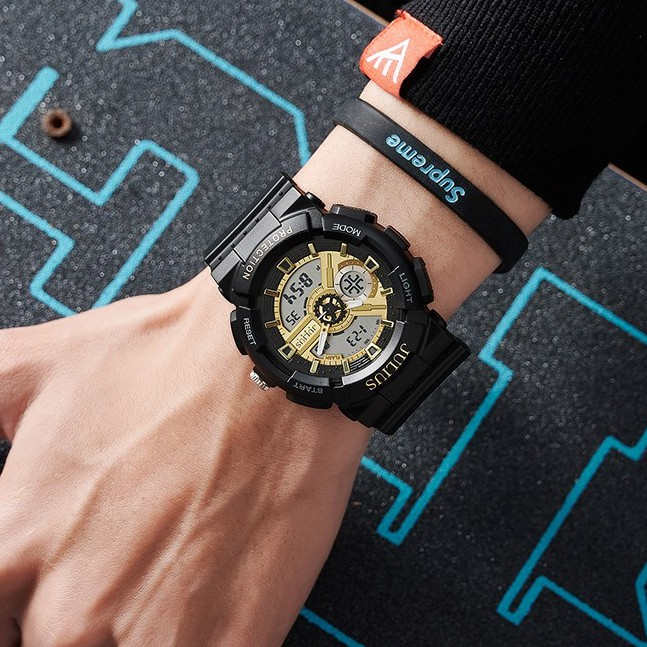 Đồng hồ nam thể thao Julius JA-1299 dây silicon   Julius Official
