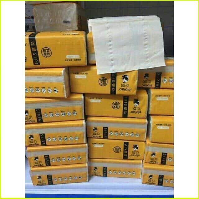 [Mẫu Hot] Bộ 5 gói giấy ăn gấu trúc SIPIAO an toàn siêu dai (1 gói 300 tờ)