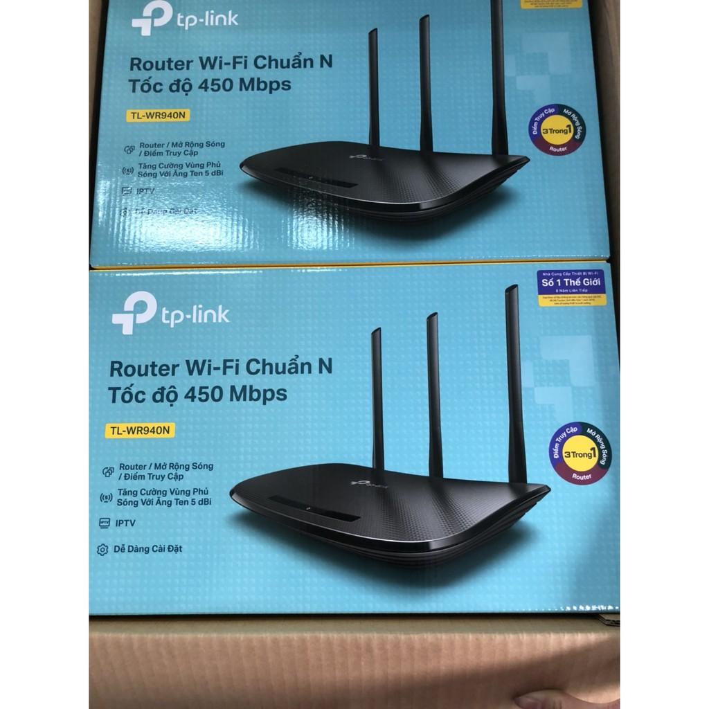 Bộ Phát Sóng WiFi Tplink 940N Chuẩn N Tốc Độ 450Mbps - 3 râu