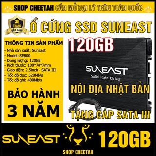 Ổ cứng SSD SunEast 120GB nội địa Nhật Bản – CHÍNH HÃNG – Bảo hành 3 năm – SSD 120GB – Tặng cáp dữ liệu Sata 3.0
