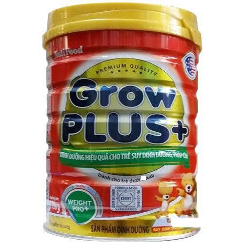 Sữa grow plus + nutifood lon 780g cho trẻ