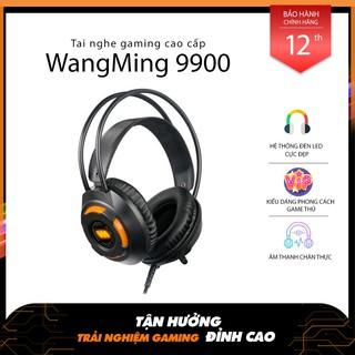 Tai nghe gaming WangMing WM9900 giả lập 7.1 USB míc dài Led màu Cam thumbnail