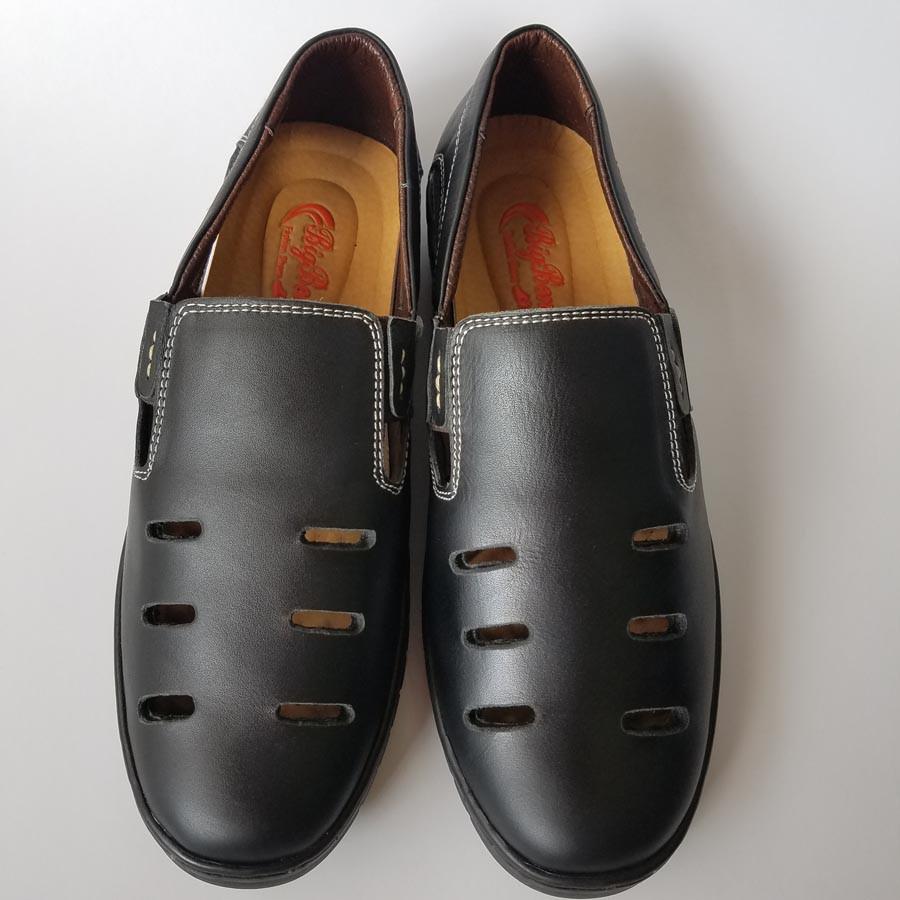 Giày Mọi Rọ Nam BIGBEN Da Bò Thật Cao Cấp L2