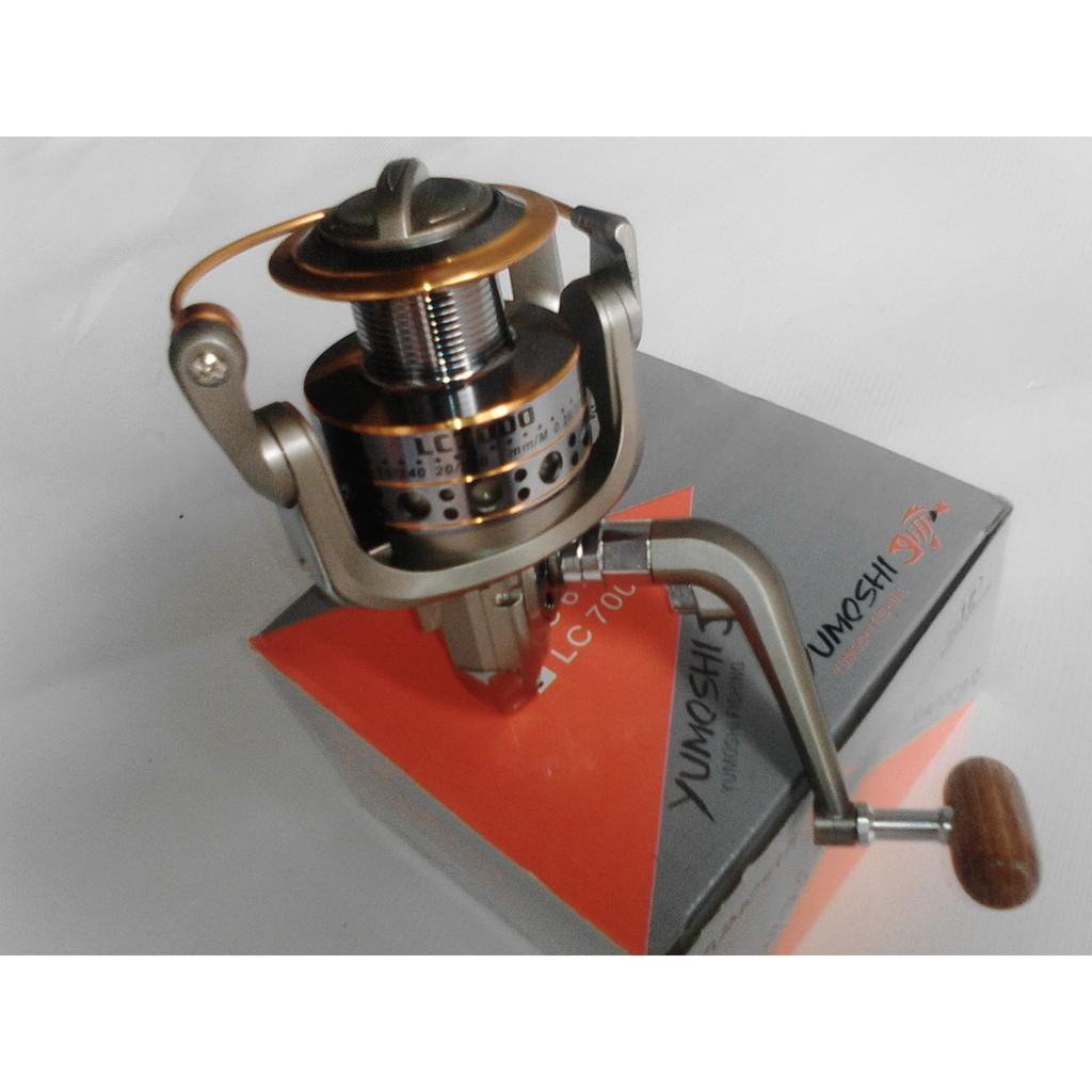máy câu cá kim loại yumoshi lc6000
