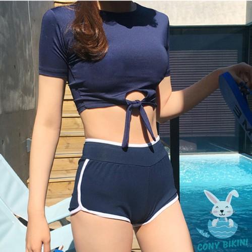(Hà Nội) Bộ Đồ Bơi Đi Tắm Biển Nữ Bikini 2 Mảnh (1 Set Áo Bra Và Quần Lót) 1903 II KIT Sport VN NAM A
