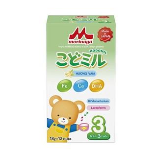 Sữa Morinaga Kodomil số 3 vị vani dâu (216g) thumbnail
