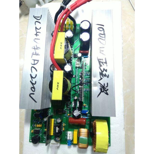 Bo mạch Inverter 24V - 2400W và 24V - 1200W ~ 220V sóng sin tinh khiết