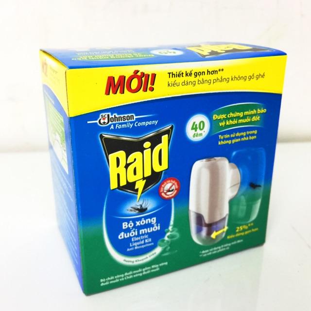 Máy xông đuổi muỗi bằng tinh dầu RAID (thương hiệu Mỹ) - 3348738 , 677417630 , 322_677417630 , 52000 , May-xong-duoi-muoi-bang-tinh-dau-RAID-thuong-hieu-My-322_677417630 , shopee.vn , Máy xông đuổi muỗi bằng tinh dầu RAID (thương hiệu Mỹ)
