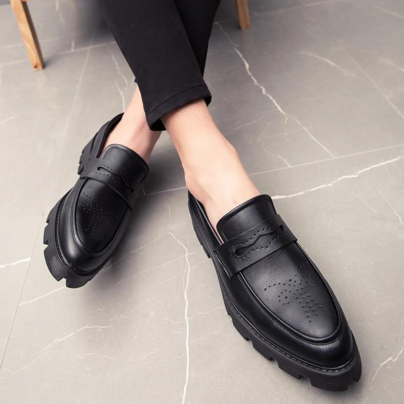 Giày da nam Oxford phong cách lịch lãm gót cao 4.5 cm