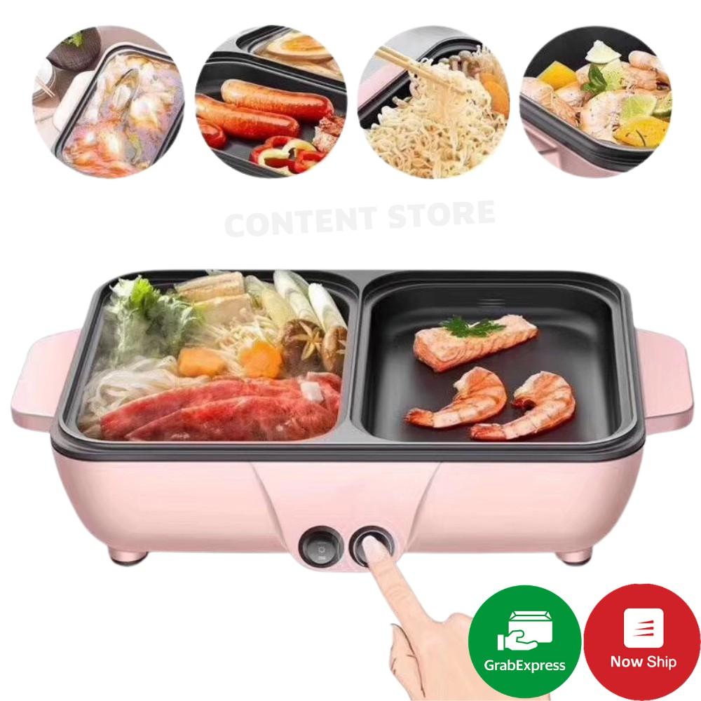 Nồi Lẩu Kiêm Nướng 🥘 2in1 Mini Hàn Quốc Z9 🥘 Bếp Lẩu Nướng Đa Năng Cao Cấp Bảo Hành 3 Tháng