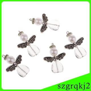 5Pc DIY Charms Pearl S Dancing Angel Dangle Pendants DIY Earrings