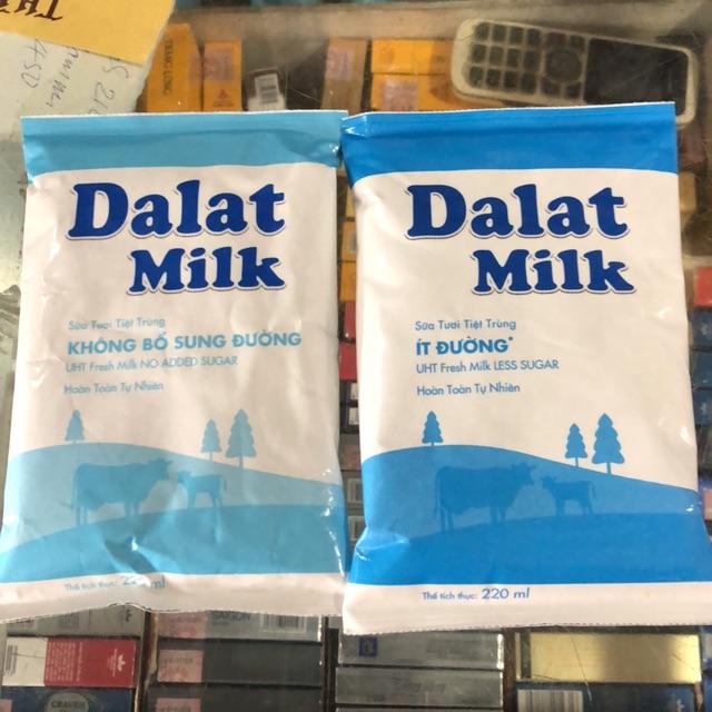 Sữa Tươi Tiệt Trùng Dalat Milk Túi 220ml