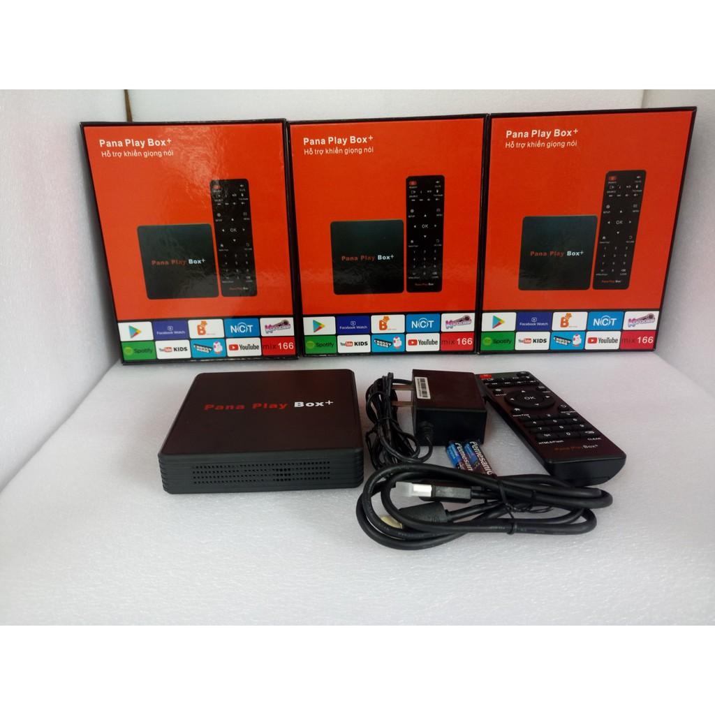 [ Chỉ 1 chạm là xem ]  Đầu Tivi box Pana Playbox+( Ram 4Gb Rom 16Gb)- Hỗ trợ khiển giọng nói 1 chạm- Mới