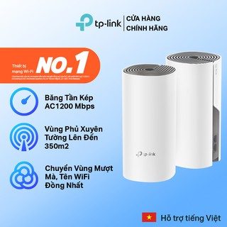 Hệ Thống Wifi Mesh TP-Link Deco M4(2-pack) Chuẩn AC 1200Mbps Dành Cho Gia Đình