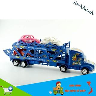 [HOT SALE] Bộ sản phẩm đường đua 56 chi tiết + bộ xe tải chở ô tô con cho bé rèn trí tuệ